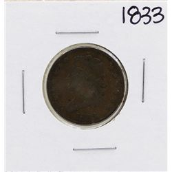 1833 Draped Bust Half Cent Coin