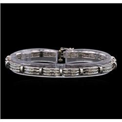 14KT White Gold 2.83 ctw Diamond Bracelet