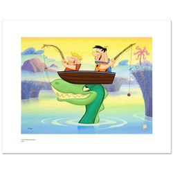 Fred and Barney Fishing by Hanna-Barbera