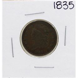 1835 Draped Bust Half Cent Coin