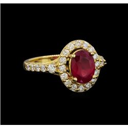 14KT Yellow Gold 2.35 ctw Ruby and Diamond Ring