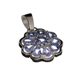 APP: 1.8k 1.80CT Mixed Cut Tanzanite And Platinum Over Sterling Silver Pendant