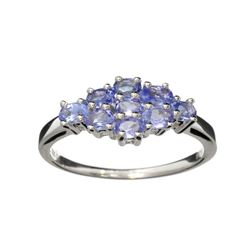 Fine Jewelry 3.00CT Oval Cut Almandite Garnet And Colorless Topaz Platinum Over Sterling Silver Ring