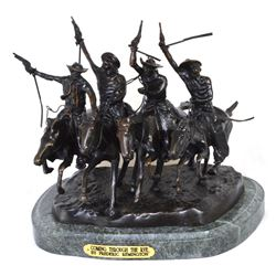 Very Rare Coming Thru The Rye By Frederic Remington- Bronze Reissue