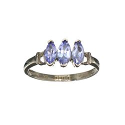 APP: 0.9k Fine Jewelry 0.40CT Marquise Cut Tanzanite And Sterling Silver Ring