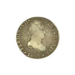 Extremely Rare Early Date 1820 Portrait Reales Very Rare - Great Investment