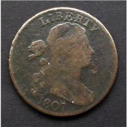1807 ROTATED DIE 180° DRAPPED BUST LG CENT