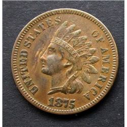 1875 INDIAN CENT XF