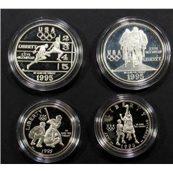 2-1995 SILVER PF COMMEM DOLLARS: