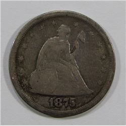 1875-TWENTY CENT PIECE VG