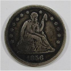 1856 SEATED QUARTER