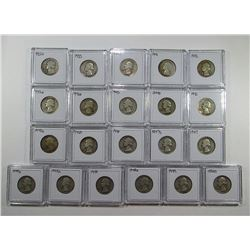 21 - SILVER WASHINGTON QUARTERS