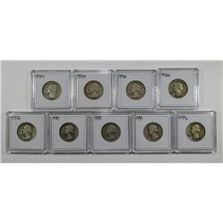 9 - SILVER WASHINGTON QUARTERS