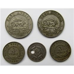 5-AFRICAN COINS
