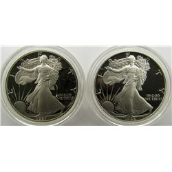 1986 & 1991 PROOF AM SILVER EAGLES