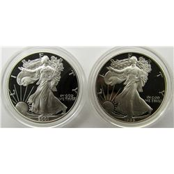 1986 & 2001 PROOF AM SILVER EAGLES