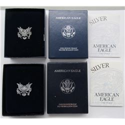 1994 & 2002 PROOF AM SILVER EAGLES