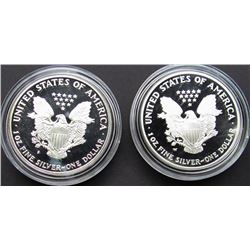 1987 & 2004 PROOF AM SILVER EAGLES
