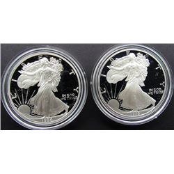 1994 & 1995 PROOF AM SILVER EAGLES