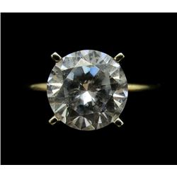 14K GOLD CZ SOLITARE RING