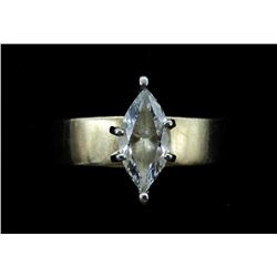 10K GOLD MARQUISE CZ RING