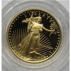 1990 ONE TENTH OUNCE GOLD COIN PROOF