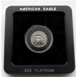 $25 PLATINUM 2002 STATUE OF LIBERTY 1/4TH OUNCE
