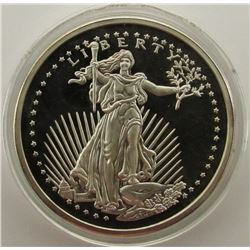 5 TROY ONCES OF .999 FINE SILVER LIBERTY EAGLE