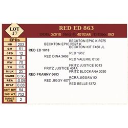 RED ED 863
