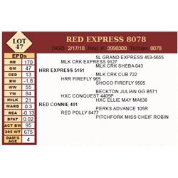 Lot - 47 - RED EXPRESS 8078