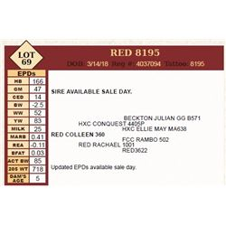 Lot - 69 - RED 8195
