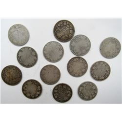 13 - EARLY DATE CANADA QTRS - CIRC SILVER