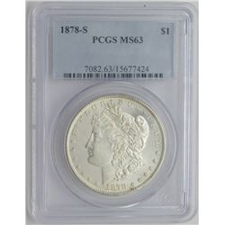1878-S MS63 PCGS Morgan Silver Dollar $