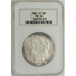 1884 CC MS64 NGC Morgan Silver Dollar $