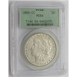1883 CC MS64 PCGS Morgan Silver Dollar $
