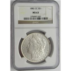 1882 CC MS63 NGC Morgan Silver Dollar $