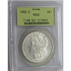1882-S PCGS MS62 Blast White Morgan Dollar