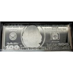 1999 $100 FRANKLIN QUARTER - POUND SILVER