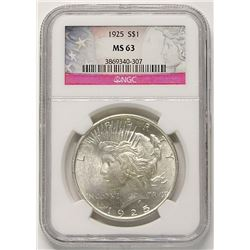 1925 PEACE DOLLAR NGC MS63