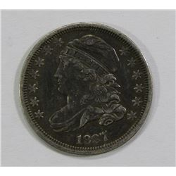 1837 CAPPED BUST DIME- VF/XF