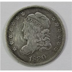1830 CAPPED BUST HALF DIME- VF