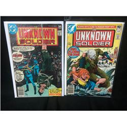 THE UNKNOWN SOLDIER COMIC BOOK LOT #210/ #242 (DC COMICS)
