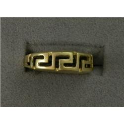 18K GREEK KEY DESIGN BAND