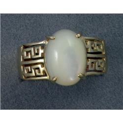 14K MOTHER-OF-PEARL GREEK KEY BAND