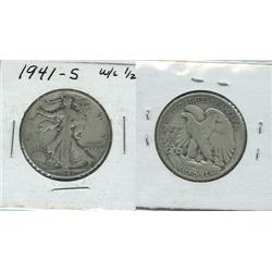 1941 S WALKING LIBERTY.