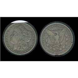 1892s Morgan Silver Dollar in airtite. F+. Key date.
