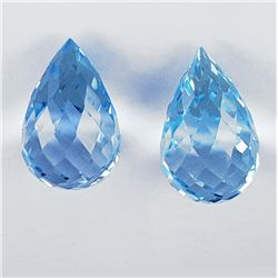 Natural AAA Sky Blue Topaz Pair 15x10 MM - FLawless