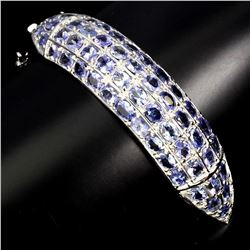 Natural Blue Violet Tanzanite 166.89 Cts Bangle