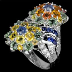 Natural Multi Color Sapphire Ring