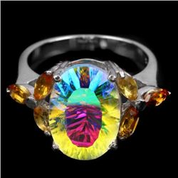 Natural AAA MULTI COLOR, TOPAZ & CITRINE Ring